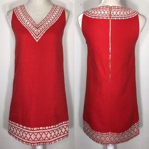 Kate Spade • embroidered v neck shirt dress